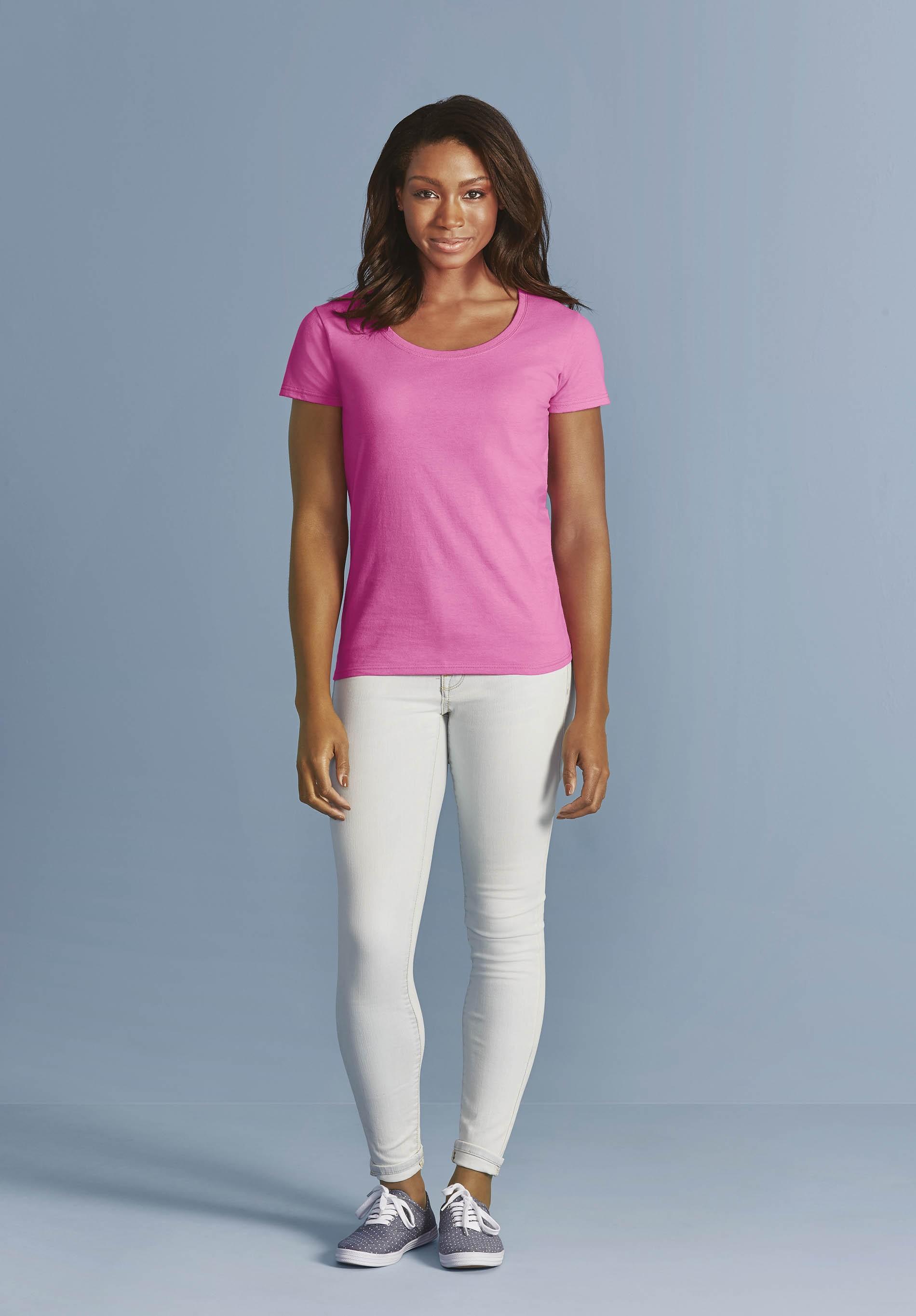T-Shirt Femme col bateau Softstyle