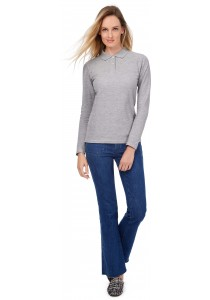 Polo femme ID.001 manches longues