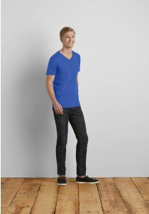 T-SHIRT HOMME COL V SOFTSTYLE