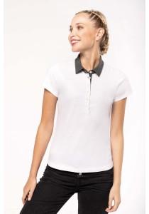 Polo jersey bicolore femme