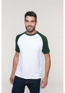 Baseball > t-shirt bicolore manches courtes
