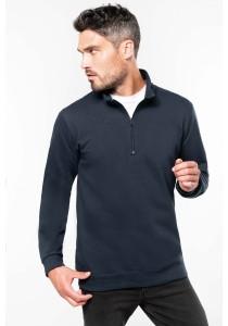 Sweat-shirt col zippé