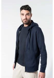 Sweat-shirt Bio zippé capuche homme