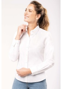 Chemise popeline manches longues femme
