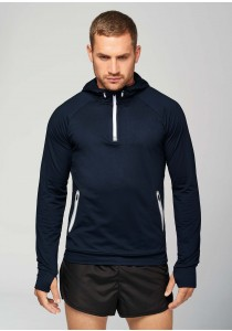 Sweat-shirt capuche 1/4 zip sport