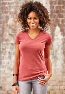 T-shirt Femme Col V HD
