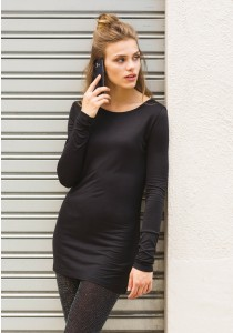 T-SHIRT FEMME EXTRA LONG MANCHES LONGUES